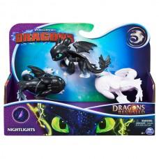 Как приручить дракона: набор из трех малышей драконов Ночное сияние Spin Master