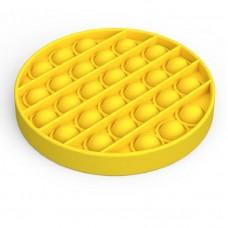 Pop It Антістрес іграшка Mono Circle Yellow Sibelly