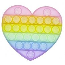 Pop It Антістрес іграшка Heart Glow in Dark Sibelly