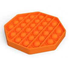 Pop It Антістрес іграшка Mono Octagon Orange Sibelly