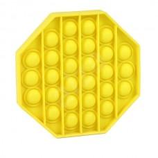 Pop It Антистресс игрушка Mono Octagon Yellow Sibelly