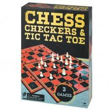 Набор из трех настольных игр Шахматы, шашки и крестики-нолики Spin Master