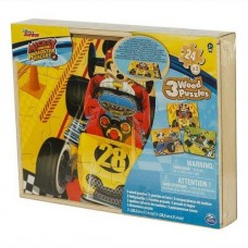 Пазл деревянный Микки 3 в 1 (21х28 см) Spin Master