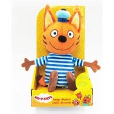 Три кота. Коржик мягкая игрушка со звуковым эффектом (20 см)